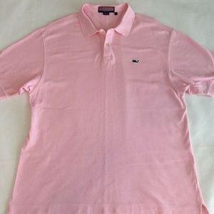 Vineyard Vines Men's Large Polo Shirt Light Pink